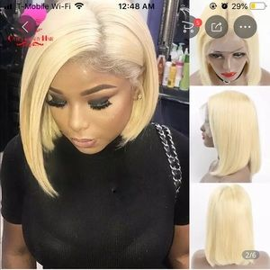 Other - 100% Human hair blonde bob